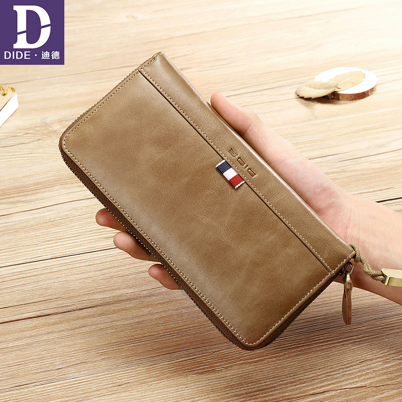 DIDE Clutch Wallet Men Genuine Leather Long wallets for Male credit card holder Business Wallets Coin Purse woven ribbon Design 2014 fashion genuine leather men wallets business style long wallet high quality credit coin purse solid soft letter male pouch