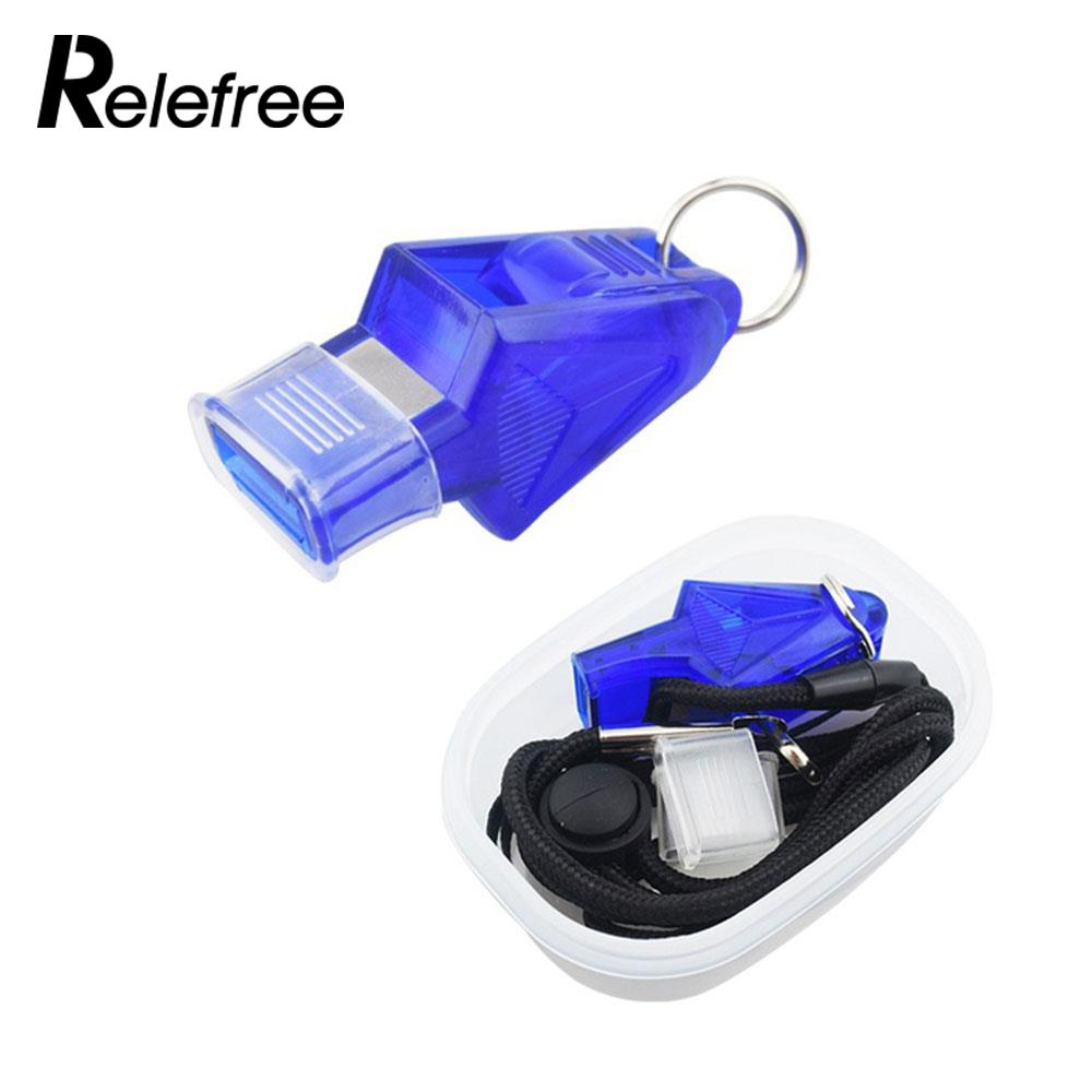Survival Whistle Classic Four Pieces Game Sports Referee Whistle Professional 130dB Match Portable Whistle 4 Colors Referee