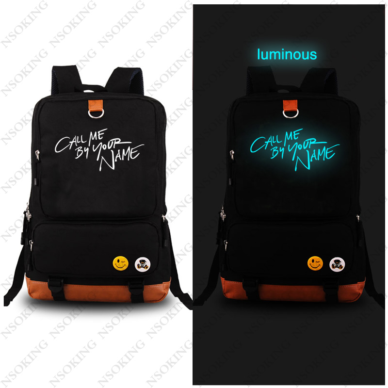 New Backpacks Call me by your name Cosplay Backpack Anime Fashion Canvas bag Student Luminous Schoolbag Unisex Travel Bags все цены