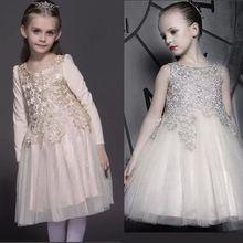 2016 горячей продажи девушки платья партии рукавов лоскутные девушки туту платье принцессы шифон малышей кружева цветок одежда vestido