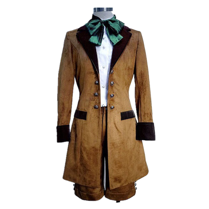 Kuroshitsuji Black Butler Ciel Phantomhive Cosplay Costume Brown Color Full Set