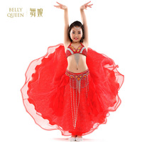 Top Grade Children Belly Dancing Clothes 3 piece Oriental Outfit Bra, Belt, Skirt Girls Belly Dance Costume Set Professional