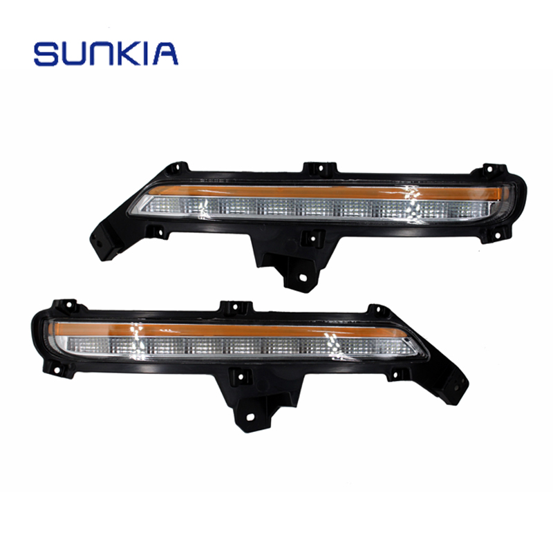 Super Bright Car Styling LED DRL Daytime Running Light Fog Lamp Modification for KIA K2 RIO 2015 2016 with Turn Signals daytime running light super bright eagle eye lamp drl auto replacement parts silver black car led light car styling