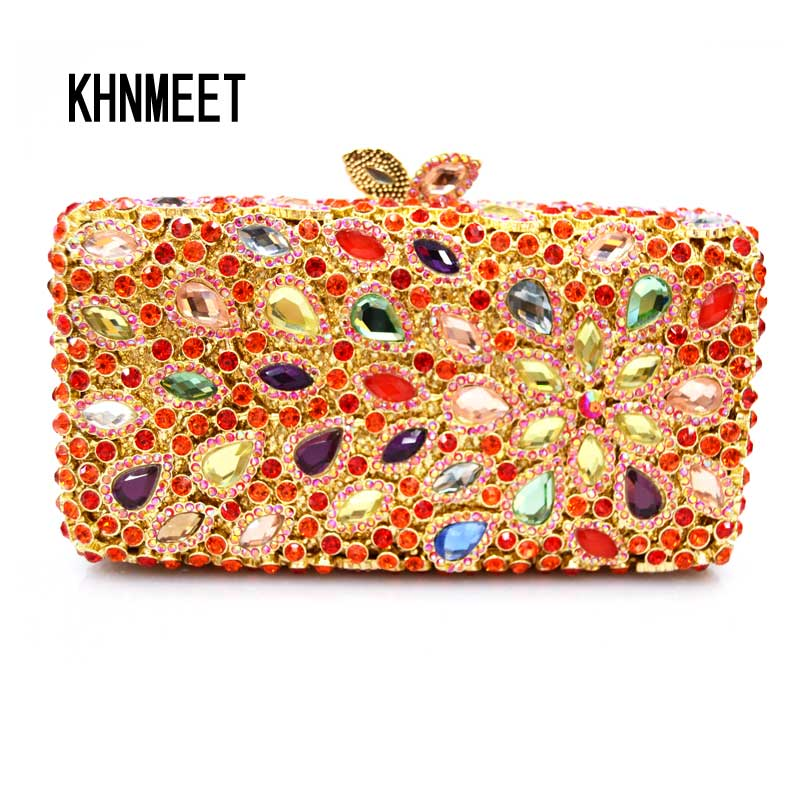LaiSC multi color wallet  clutch bag with chain fashion brand crystal women party purse bag rhinestone party evening bags SC193 fashion women s evening bag with chain and lipstick design
