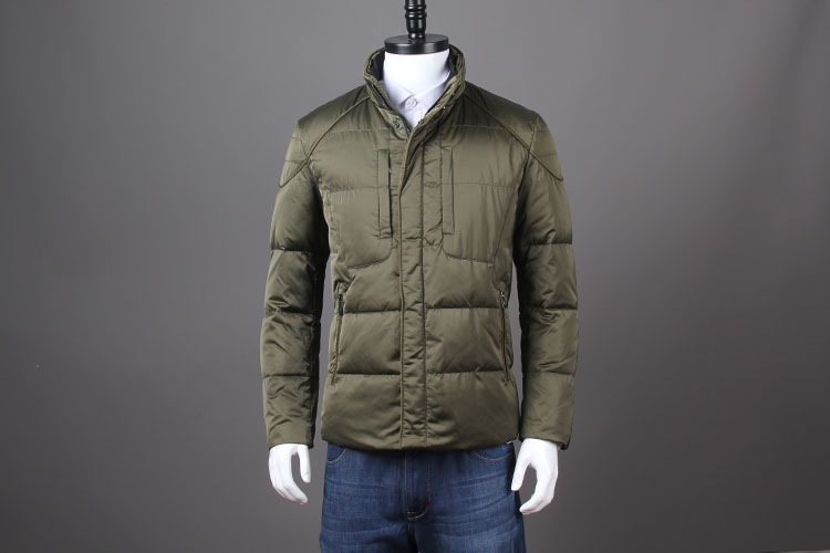 vetement homme 2017 men feather duck down coat male winter parkas short jacket snowimage green plus oversize xxxl cheap price
