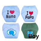 4pcsbaby Training Pants Waterproof Diaper Newborn Diapers Washable Diapers Cover Disposable Size 100 for 13-15kg