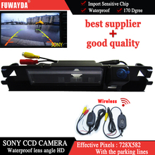 FUWAYDA Wireless Car RearView Reverse backup SONYcamera rearview parkingfor Toyota Yaris with Guide Line waterproof night vision