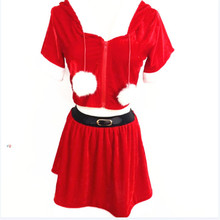 2017 high quality Santa Claus Costumes Christmas Red Riding Hood Fancy Dress Suit Girls Sexy Lingerie Erotic Set Womens Uniforms