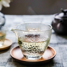 Heat-resistant Glass Fair Tea Cup Exquisite Handmade Transparent TeaCups Kung Fu Sets Japanese Ceremony And Saucer