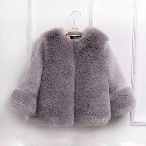 Image 2 - Dollplus 2020 Ragazze di Inverno Cappotto di Pelliccia di Modo Elegante Del Bambino Della Ragazza Faux Fur Giubbotti e Cappotti di Spessore Caldo Parka Per Bambini Boutique vestiti