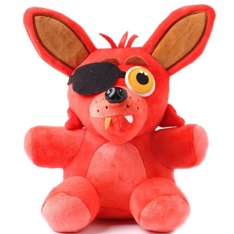 1 шт. Пять Ночей В фредди 4 FNAF Фредди Foxy чучела животных Fox Игрушки Куклы for baby дети рождество куклы