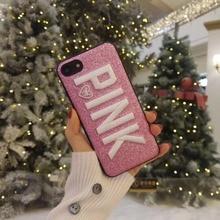 Pink Shiny Glitter Phone Case iPhone 6 S 6S plus 7 7plus 8 8plus X