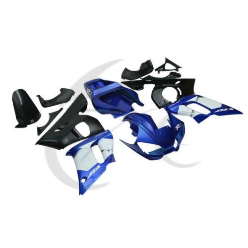 Blue ABS Plastic Fairing Body Work Set For Yamaha YZF R6 YZF-R6 1998-2002 2000