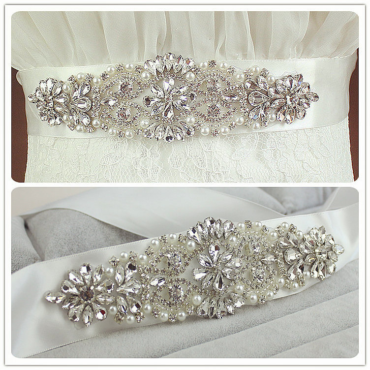 aliexpresscom buy real satin wedding belt crystal 6cm