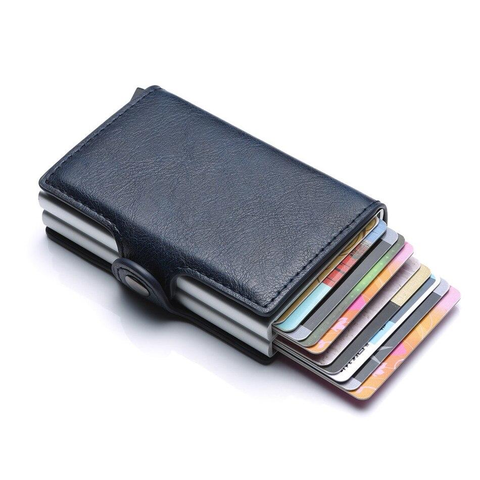 concepteur neuf et d'occasion nouvelle sélection la qualité d'abord € 9.0 43% de réduction|Portefeuille de carte de visite RFID Double boîte en  Aluminium PU cuir automatique Pop Up porte carte d'identité de crédit en ...