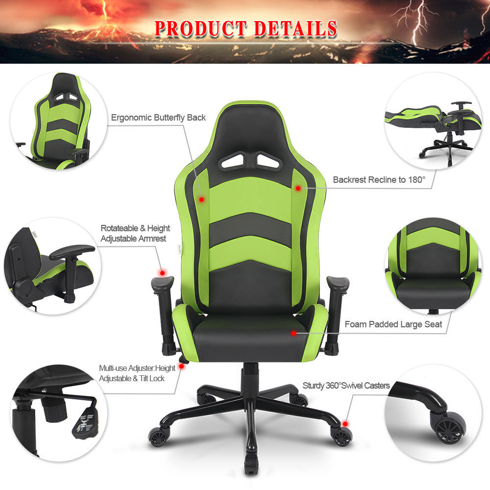 1   Chair 1   Assembling InstructionAliexpress com   Buy iKayaa US UK FR Stock Racing Seat Gaming  . Racing Seat Office Chair Uk. Home Design Ideas