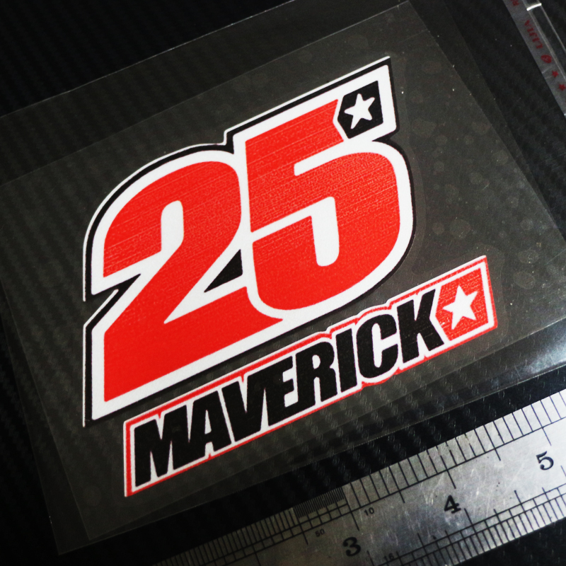 6zstickers 1PZ 25 MAVERICK VINALES number motoGP cars Reflective stickers waterproof sunscreen