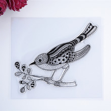 2016 New Scrapbook DIY Photo Album Cards Transparent Acrylic Silicone Rubber Clear Stamps CUte bird