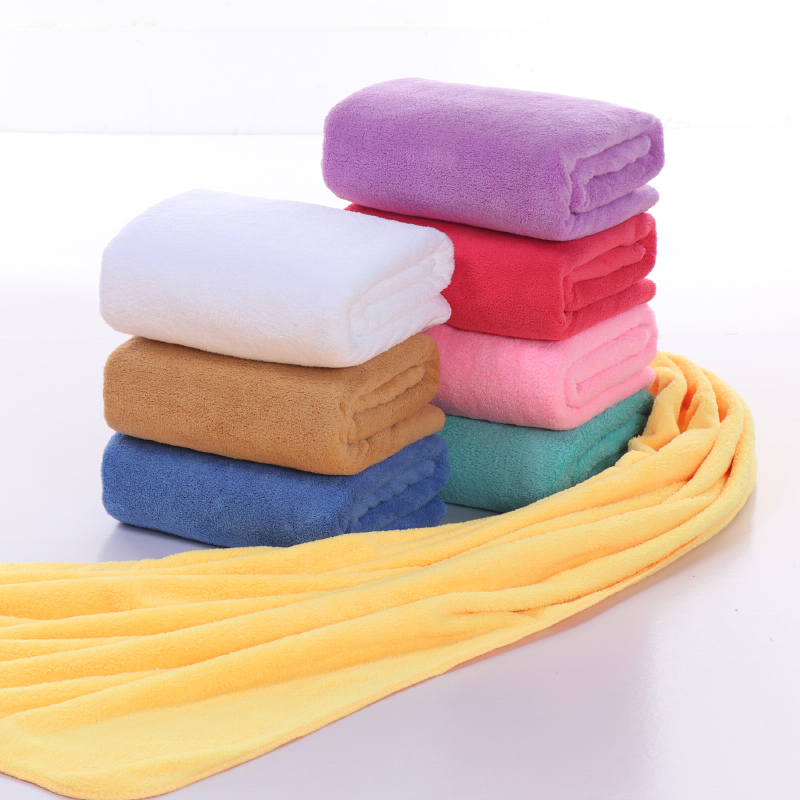 Vieruodis Bath Towels For Adults Microfiber Coral Fleece Towel Quick-Drying Outdoor Sports Swimming Absorbent Soft