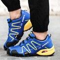 2017 Nuevo Diseño de Moda Durable A Prueba de agua Zapatos de Los Hombres Del Otoño Del Resorte antideslizante A Prueba de Golpes Absorción Zapatos Casuales Chaussure Homme