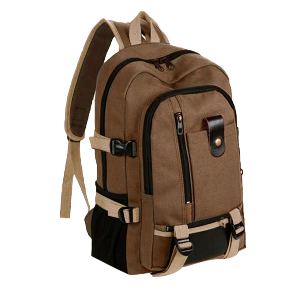 Rucksack Travel-Bucket-Backpack Canvas Multifunctional College Student Men -Yl5 3-Colors