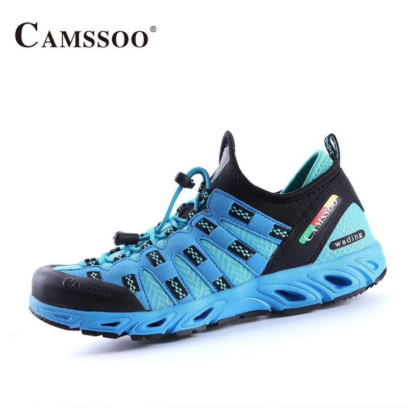 Camssoo femmes en amont chaussures respirant eau chaussures plate-forme baskets femmes confortable chaussures de plein air AA40354