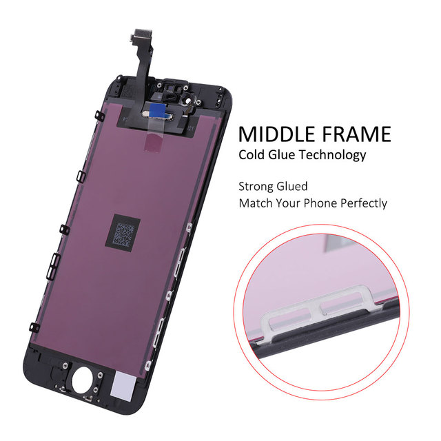 Elekworld EBS-Pro Tianma AAA Quality For iphone 6 LCD Display With Touch Screen Digitizer Assembly Replacement OEM Brightness