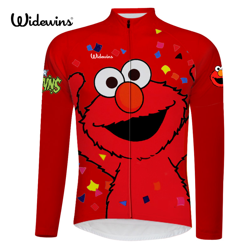 New elmo shirt cycling jersey long sleeve wicking cycling clothing bicycle exercise wear ropa ciclismo maillot Quick Dry 6515