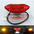Clear New Universal Motorcycle motorbike bike bicycle LED Signal Tail Light Running Stop Lamp Brake Light Dropshipping