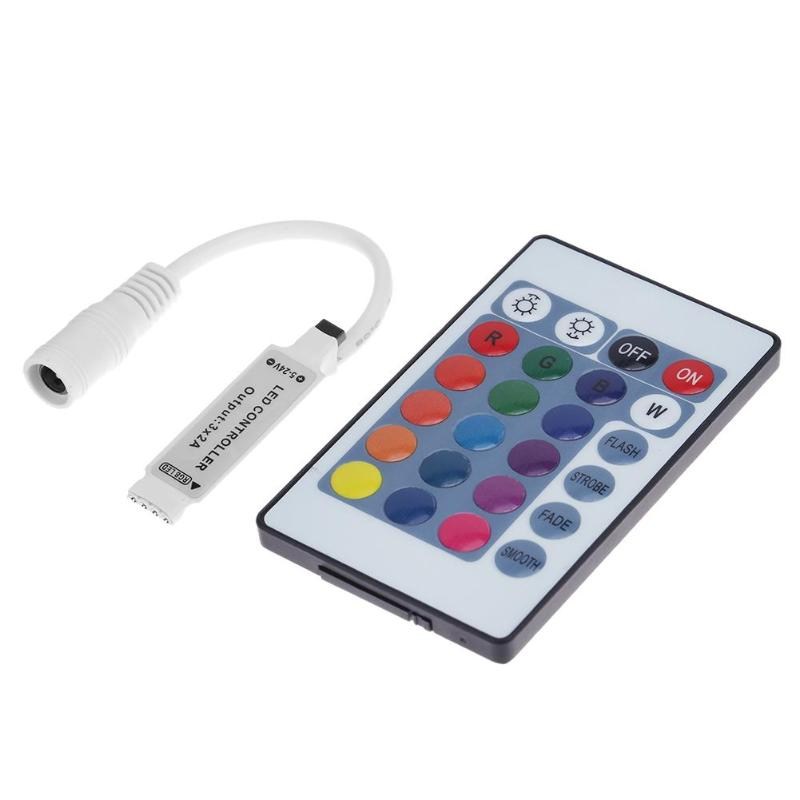 Mini 5-24V 24 Keys IR Wireless LED RGB Controller Remote Controller For LED Strip Light