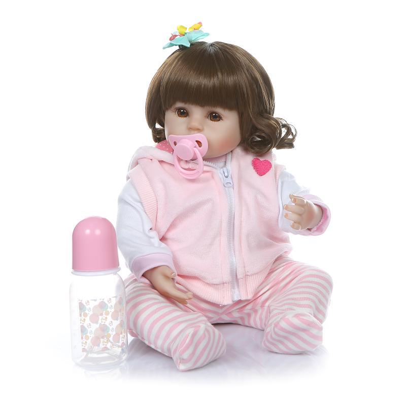 48 cm réaliste Reborn bébés doux Silicone bébé poupées lol reborn bambin réaliste nouveau-né bébé poupée pour enfant cadeau de noël