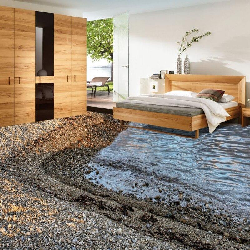 ФОТО Free Shipping Cobblestone Crest 3D Living Room Bathroom Flooring waterproof non-slip bedroom study coffee house flooring mural