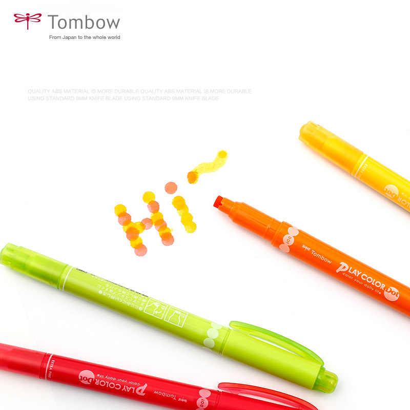 Tombow Spielen Farbe Dot doppelseitige Aquarell Marker Stift für Bold und Fineliner Spitze 0,3 Präzise Schreiben Färbung Kugel journal