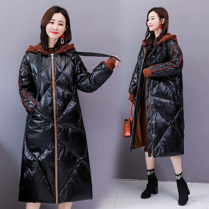 Mode golden Grande De Mince Décontracté D'hiver Femmes Black Épais Matelassé Parka Longue Veste Qh086 Taille Chaud 2019 Coréenne Femelle Feminina Coton Manteau wNvm0Oy8nP
