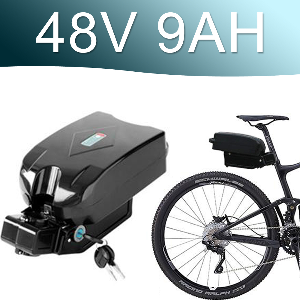48V 750W Lithium ion Battery 9AH battery fro g typ Rear Battery Pack 48V Electric bicycle 48v 8fun bbs02 battery super power electric bike battery 48v 17 5ah li ion battery with sanyo ga 18650 cells for bafang 8fun 48v 750w 1000w ebike motor