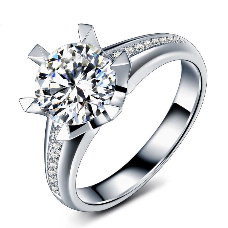 Buy Moissanite and Multi-Row Diamond Split Band Engagement Ring 2 Carats TGW 14k White Gold and other Engagement Rings at bossmixe.gq Our wide selection is .
