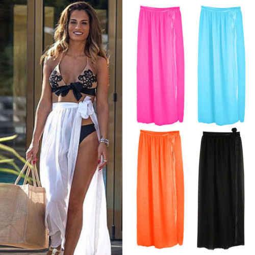 da80235e54 New Stylish Sexy Women Bikini Cover Up Swimwear Sheer Beach Maxi Wrap  Pretty Many Colors Skirt