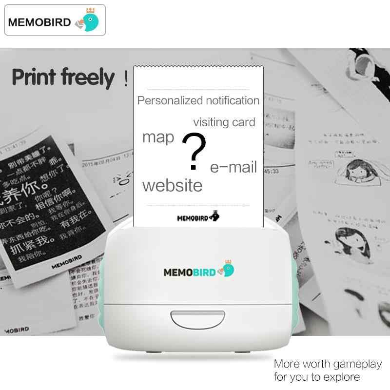 Nova memobird g2 wifi recibo térmico impressora de etiquetas impressão portátil impressora de fotos bolso sem fio wi fi impressora de fotos jepod