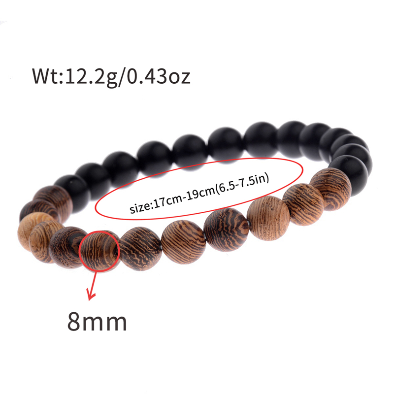 8mm New Natural Wood Beads Bracelets Men Black Ethinc Meditation White Bracelet Women Prayer Jewelry Yoga Bracelet Homme HTB1gI2YbBfH8KJjy1Xbq6zLdXXav