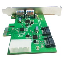Q00447 WBTUO LT301 Desktop PCI-E 2-Port USB 3.0 + 2-Port SATA 3.0 Expansion Card