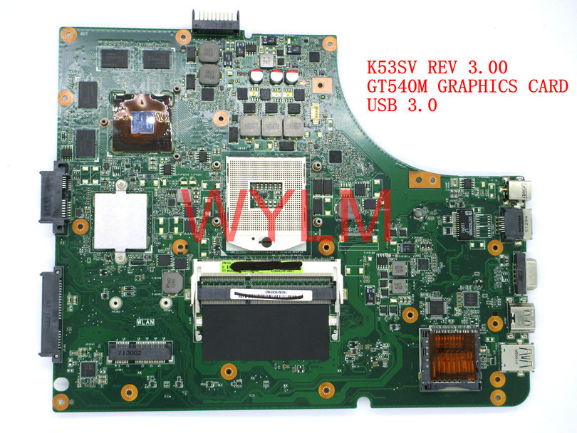 free shipping original K53S X53S A53S K53SV REV 3.00 Laptop motherboard MAIN BOARD USB 3.0 GT540M N12P-GS-A1 100% Tested original main lc37as28 rev 35010539 00 used disassemble