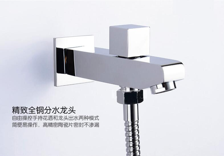 Full copper concealed shower outlet pipe Dual function water Tsui Wall Mounted bathtub faucet With shower under the outlet pipeFull copper concealed shower outlet pipe Dual function water Tsui Wall Mounted bathtub faucet With shower under the outlet pipe