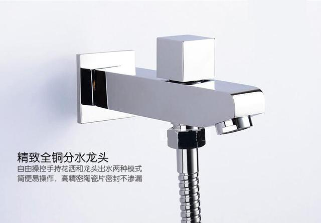 Full Copper Concealed Shower Outlet Pipe Dual Function Water Tsui Wall  Mounted Bathtub Faucet With Shower