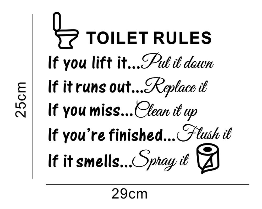 aliexpresscom buy toilet rules bathroom toilet wall sticker vinyl art decals diy home decoration from reliable diy home decor suppliers on babelin home