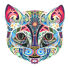 5D DIY Full Drill Round Diamond Painting Diamond Embroidery Decorative Cat Leopard Pattern Mosaic Stickers Cross Stitch diamond painting 5d diy full drill round diamond two snow wolf pattern embroidery mosaic stickers cross stitch decorative