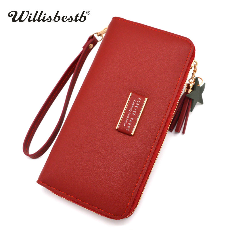 2018 New Letter Wallet Women Purse Brand Design Long Zipper Phone Pocket Clutch Leather Card Holder Woman Wallet Female Purse new brand colors purse plaid leather zipper wallet cards holder wallet for girls women wallet