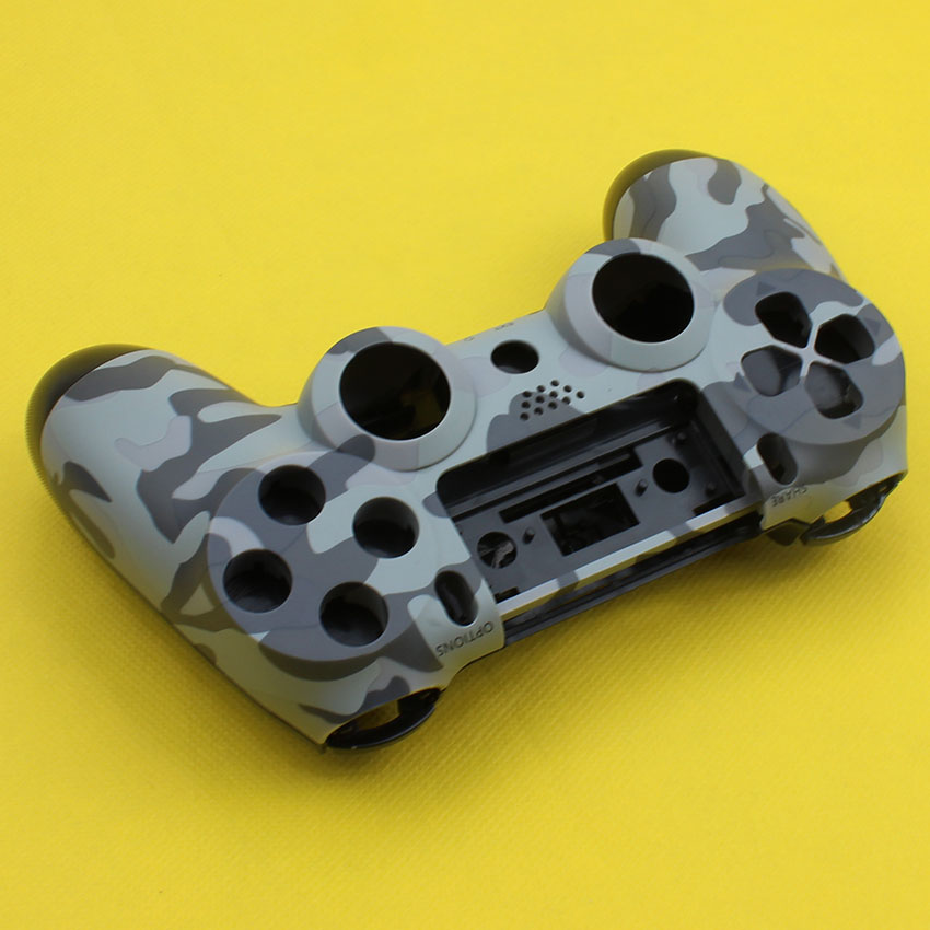 Cltgxdd Front+Back Hard Plastic Upper Housing Shell Case With Inner Support For PS4 Wireless Controller Cover