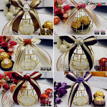 10/30/50pcs European Iron wine glasses goblet exclusive candy box with purple floret/candy