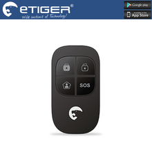 Chuangkesafe 433MHz Wireless RF Remote Control ES-RC1 For Etiger Alarm System S4/S3B Panel Match Chuango G5 433MHZ