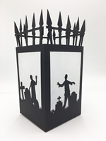 BOSHENG DIY Paper Light Box Creepy Cemetery Halloween Decor Silhouette Luminary Lantern Shadow Box Indoor Decor
